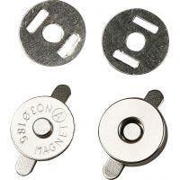 Magnetlås, diam. 18 mm, 25 stk./ 1 pk.