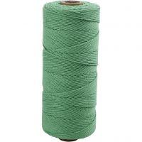 Knyttegarn, L: 315 m, tykkelse 1 mm, Tynd kvalitet 12/12, lys grøn, 220 g/ 1 ngl.