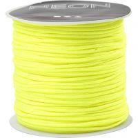 Knyttesnor, tykkelse 1 mm, neon gul, 28 m/ 1 rl.