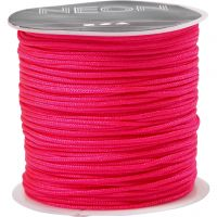 Knyttesnor, tykkelse 1 mm, neon pink, 28 m/ 1 rl.