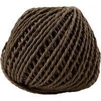 Papirgarn, tykkelse 2,5-3 mm, mørk brun, 40 m/ 1 ngl., 150 g