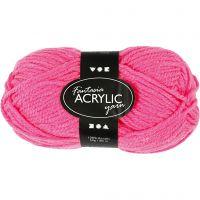 Fantasia Polyacrylgarn, L: 80 m, neon pink, 50 g/ 1 ngl.