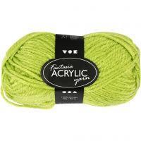 Fantasia Polyacrylgarn, L: 80 m, lys grøn, 50 g/ 1 ngl.