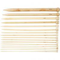 Strikkepinde, nr. 2,5-20, L: 35 cm, 16 par/ 1 pk.