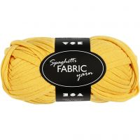 Spaghetti garn, L: 35 m, gul, 100 g/ 1 ngl.