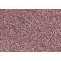 Strygestof, 148x210 mm, glitter, lyserød, 1 ark