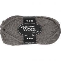 Melbourne uldgarn, L: 92 m, grå, 50 g/ 1 ngl.
