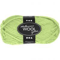 Melbourne uldgarn, L: 92 m, neon grøn, 50 g/ 1 ngl.