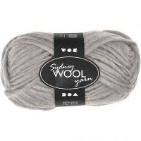 Sydney uldgarn, L: 50 m, lys grå, 50 g/ 1 ngl.