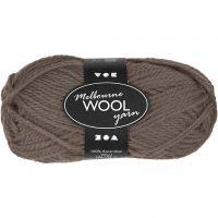 Melbourne uldgarn, L: 92 m, grå brun, 50 g/ 1 ngl.
