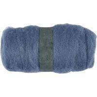 Kartet uld, himmelblå, 100 g/ 1 bdt.