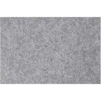 Hobbyfilt, 42x60 cm, tykkelse 3 mm, grå, 1 ark