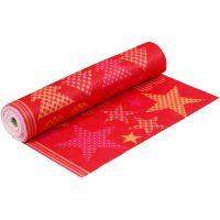 Motivfilt, B: 45 cm, tykkelse 1,5 mm, 180-200 g, orange, rød, 5 m/ 1 rl.