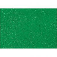 Hobbyfilt, A4, 210x297 mm, tykkelse 1 mm, grøn, 10 ark/ 1 pk.