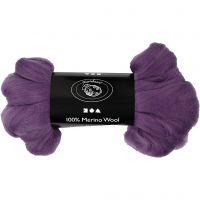 Uld, tykkelse 21 my, violet, 100 g/ 1 pk.
