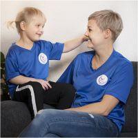 T-shirt, Danske Hospitalsklovne, B: 57 cm, str. XXL , blå, 1 stk.