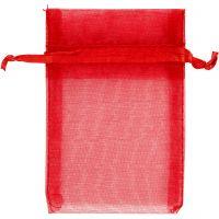 Organzapose, str. 7x10 cm, rød, 10 stk./ 1 pk.