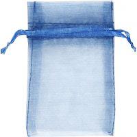 Organzapose, str. 7x10 cm, blå, 10 stk./ 1 pk.