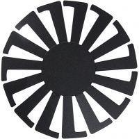 Flet-let-skabelon, H: 8 cm, diam. 14 cm, sort, 10 stk./ 1 pk.