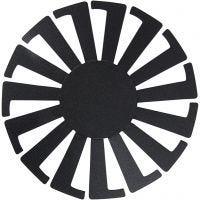 Flet-let-skabelon, H: 6 cm, diam. 8 cm, sort, 10 stk./ 1 pk.