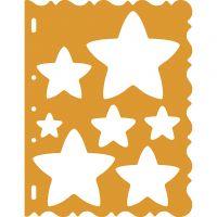Skæreskabelon, stjerner, 21x28 cm, 1 stk.
