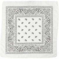 Bandana, str. 55x55 cm, hvid, 1 stk.