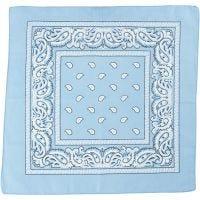 Bandana, str. 55x55 cm, lyseblå, 1 stk.
