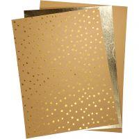 Læderpapir, 21x27,5+21x28,5+21x29,5 cm, tykkelse 0,55 mm, ensfarvet,folie,print, 3 ark/ 1 pk.