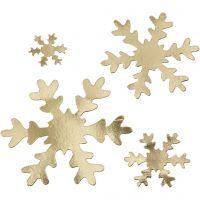 Snefnug, diam. 3+5+8+10 cm, 350 g, guld, 16 stk./ 1 pk.