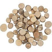 Træskiver, diam. 10-15 mm, 25 g/ 1 pk.