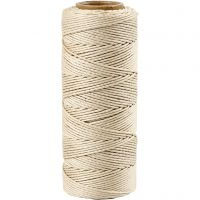 Bambussnor, tykkelse 1 mm, råhvid, 65 m/ 1 rl.