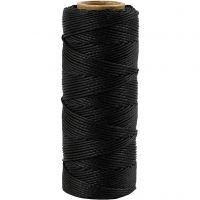 Bambussnor, tykkelse 1 mm, sort, 65 m/ 1 rl.