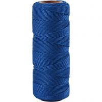 Bambussnor, tykkelse 1 mm, blå, 65 m/ 1 rl.