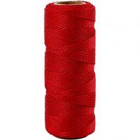 Bambussnor, tykkelse 1 mm, rød, 65 m/ 1 rl.