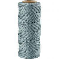 Bambussnor, tykkelse 1 mm, mørk turkis, 65 m/ 1 rl.
