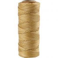 Bambussnor, tykkelse 1 mm, guld, 65 m/ 1 rl.
