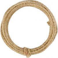 Jute wire, tykkelse 2-4 mm, natur, 3 m/ 1 pk.