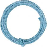 Jute wire, tykkelse 2-4 mm, himmelblå, 3 m/ 1 pk.