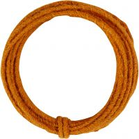 Jute wire, tykkelse 2-4 mm, orange, 3 m/ 1 pk.