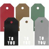 Manilamærker, TO YOU, str. 5x10 cm, 300 g, 6x15 stk./ 1 pk.