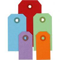 Manilamærker, str. 3x6+4x8+5x10 cm, 220 g, ass. farver, 500 stk./ 1 pk.