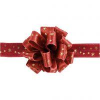 Susifixbånd , B: 18 mm, guld, rød, 5 m/ 1 rl.