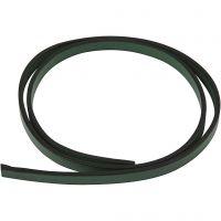 Imiteret læderbånd, B: 10 mm, tykkelse 3 mm, grøn, 1 m/ 1 pk.