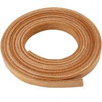Læderbånd, B: 10 mm, tykkelse 3 mm, natur, 2 m/ 1 pk.