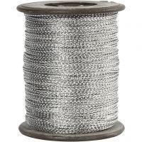 Tråd, tykkelse 0,5 mm, sølv, 100 m/ 1 rl.