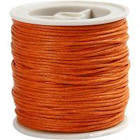 Bomuldssnor, tykkelse 1 mm, orange, 40 m/ 1 rl.