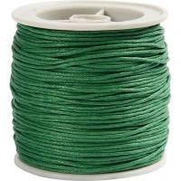 Bomuldssnor, tykkelse 1 mm, grøn, 40 m/ 1 rl.