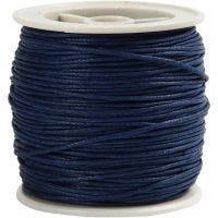 Bomuldssnor, tykkelse 1 mm, blå, 40 m/ 1 rl.
