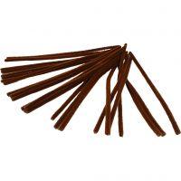 Chenille, L: 30 cm, tykkelse 9 mm, brun, 25 stk./ 1 pk.