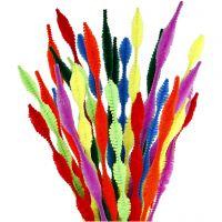 Chenille, figurklippede, L: 30 cm, tykkelse 5-12 mm, ass. farver, 28 ass./ 1 pk.